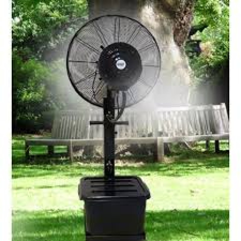 Captivating 26 Inch Industrial Standing Water Mist Fan (Outdoor)