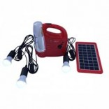 Solar/Electric Rechargeable Lamp
